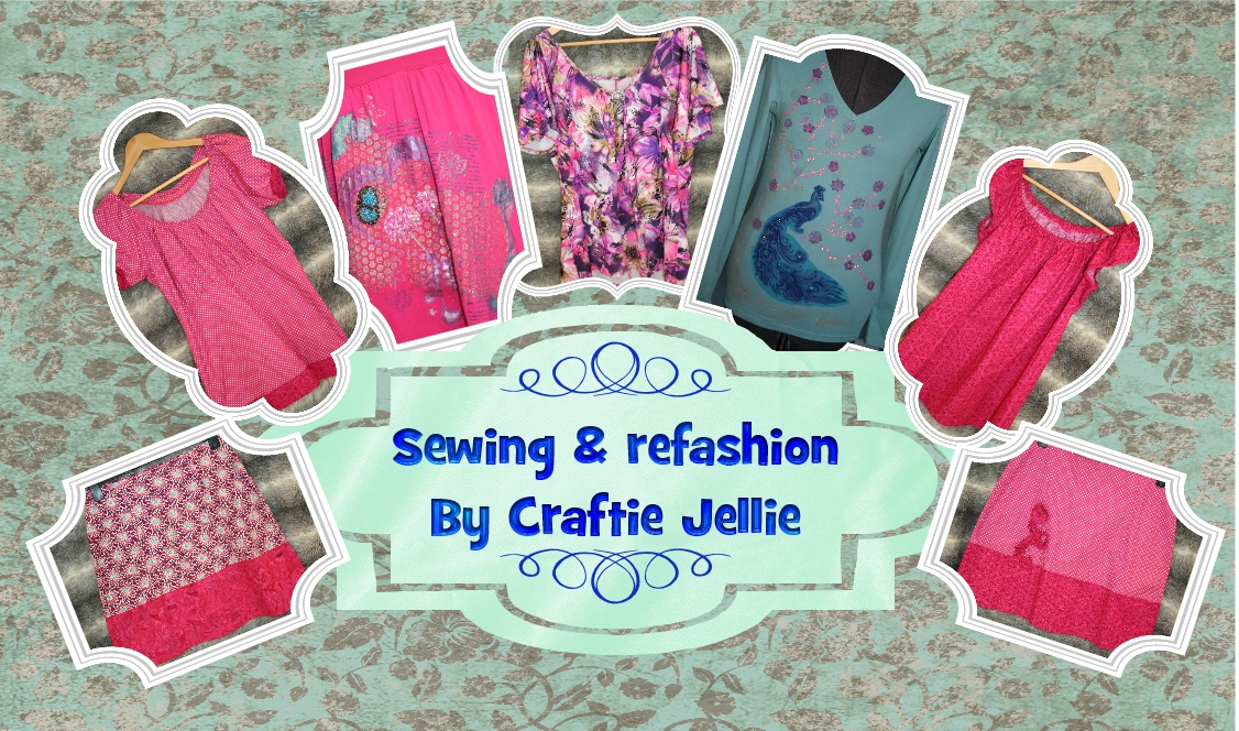Achelois sewing refashion by Craftie Jellie