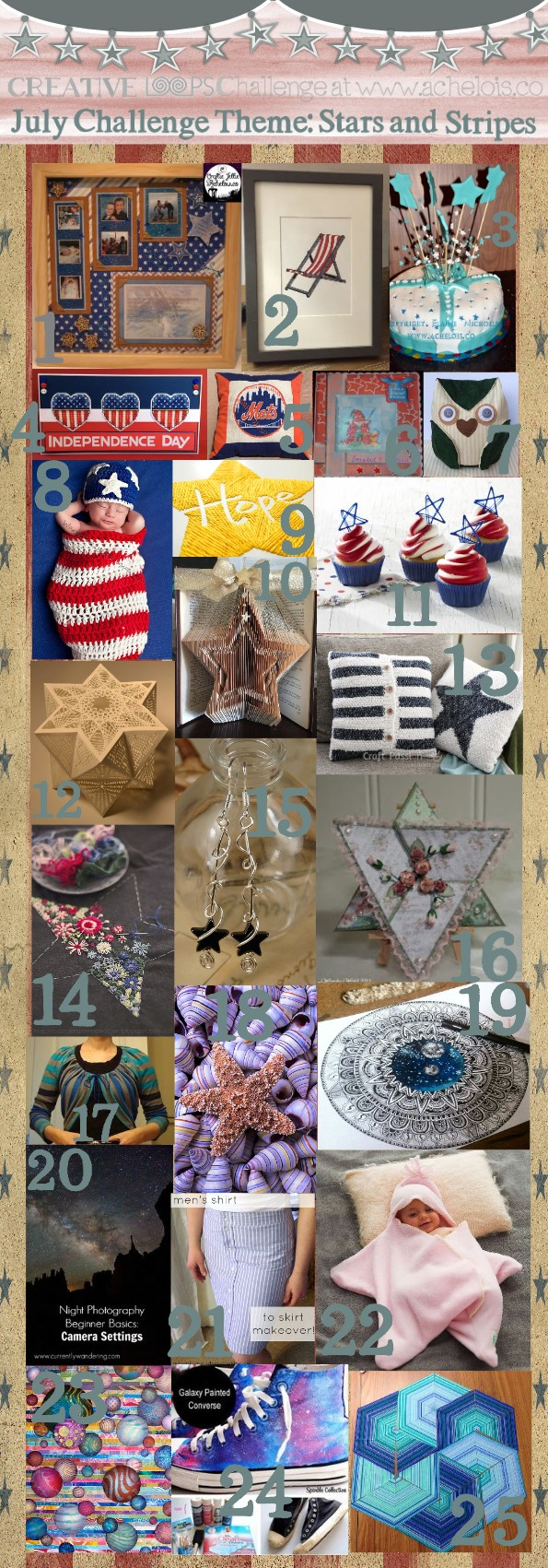 Creative loops challenge Stars and Stripes